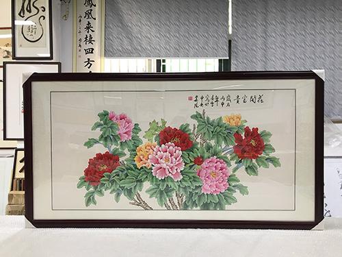 凌雪 四尺整张 花开富贵 工笔画国画牡丹