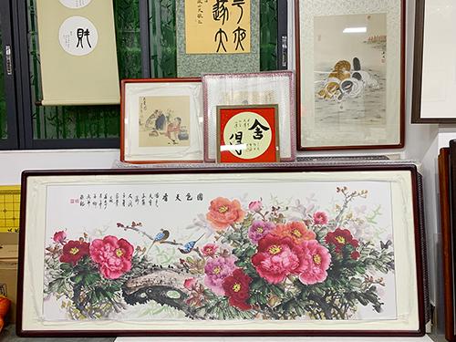 林善卿 小六尺  国色天香 写意国画牡丹