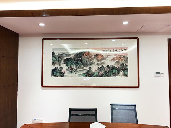 广园路广东省消防总队领导办公室挂画