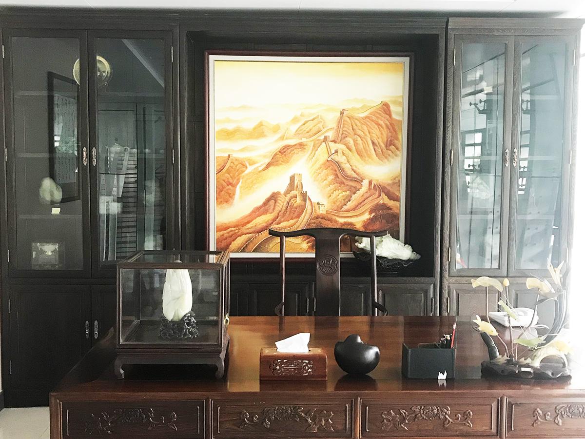 广州新CBD海珠区琶洲保利地产公司办公室国画书法挂画