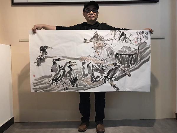 唐雁翼 四尺整张 精品人物画