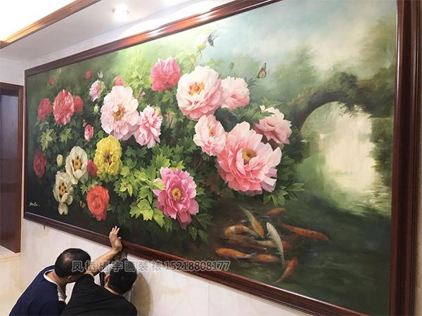 广州白云新城apple姐复式豪宅餐厅挂画