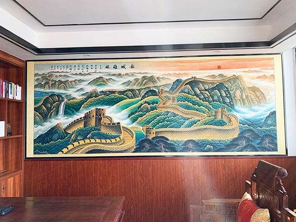 广州萝岗区奥园写字楼陈总办公室国画挂画